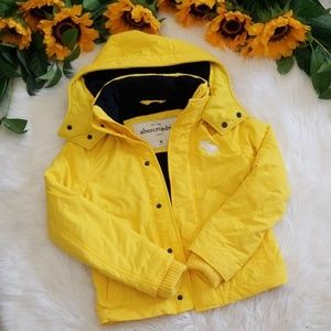 NWOT Abercrombie Kids Yellow Winter Jacket